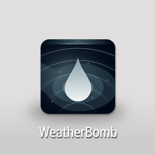 An innovative icon for an innovative app - WeatherBomb