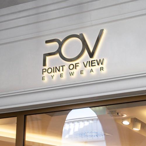 logo concept for luxury eyewear retailer