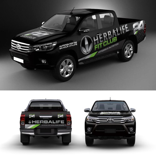 Powerful Show Truck Wrap for Nutrition and Fitness Company