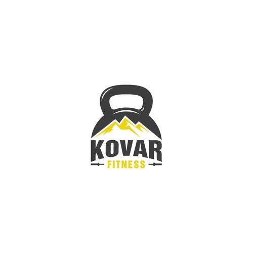 Strong bold KOVAR Fitness logo.