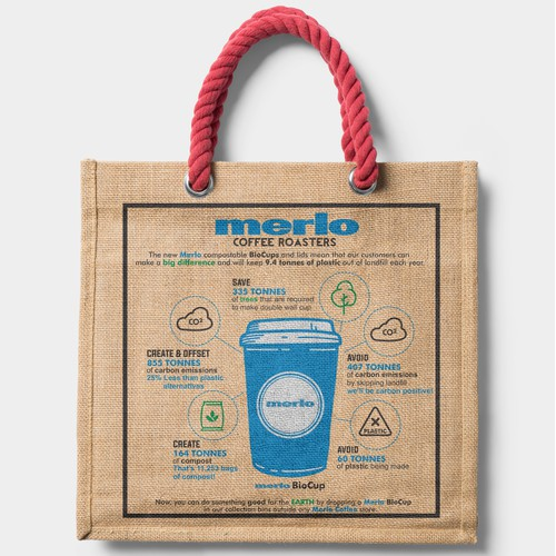 Totebag Design for Merlo Coffee Australia