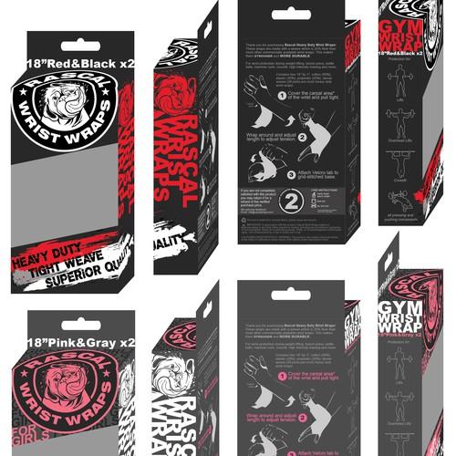 Rascal Wrist Wraps Package Design