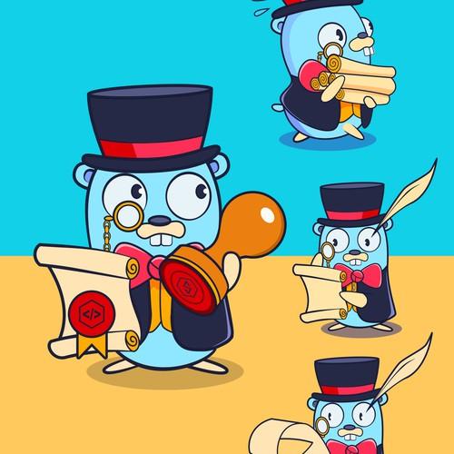 Mascot Design For Notarization Company