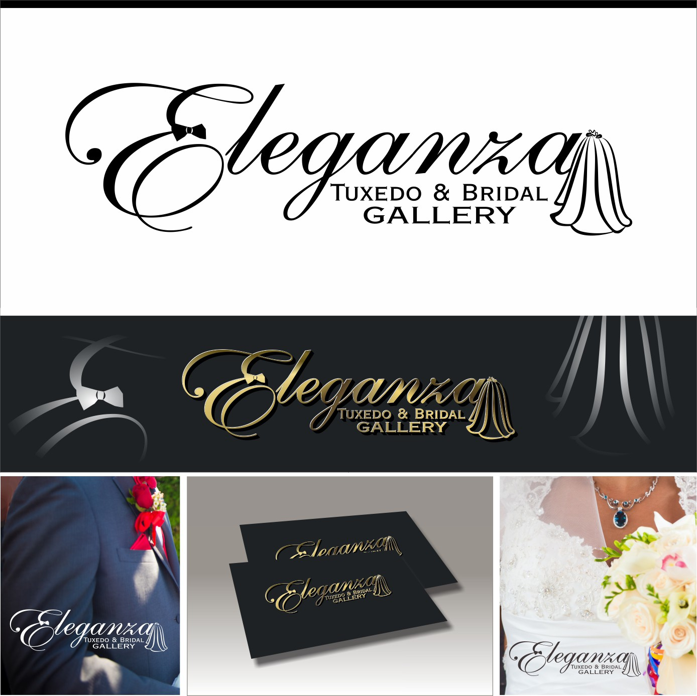 Create an elegant and luxurious-looking bridal illustration for Eleganza.