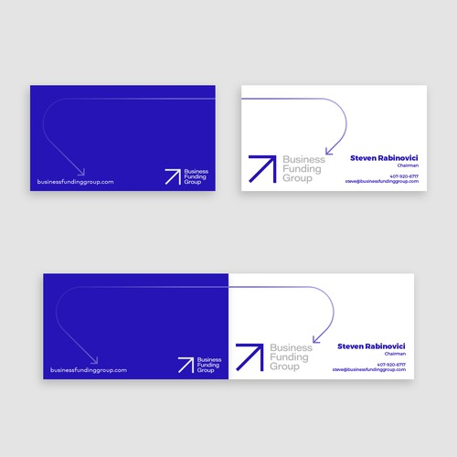 Business cards for financial brand
