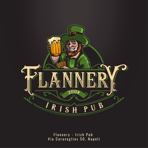 Flannery, Irish Pub | Logo design.
