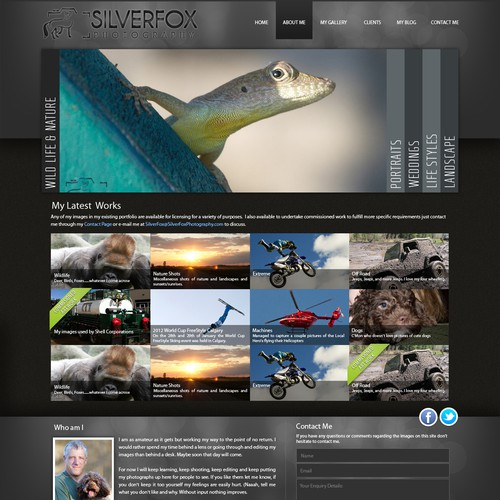 New website design wanted for SilverFox Photography