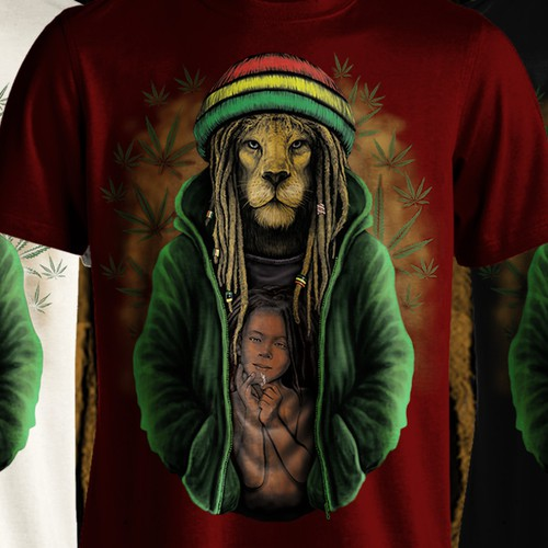 Rasta Lion Tees