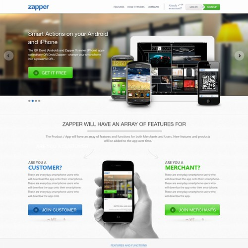 Create the next website design for Zapper