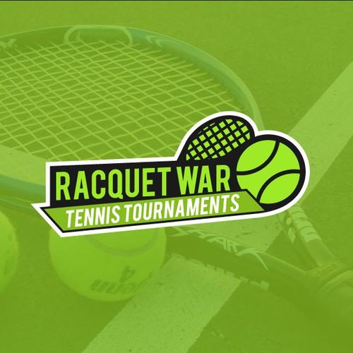 Logo for a tennis tournament