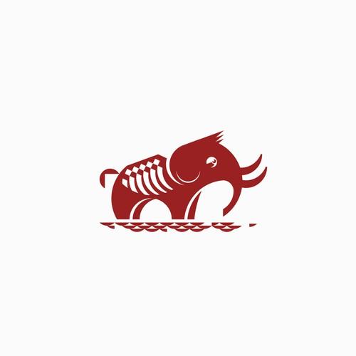 Mammoth logo with Big Bones