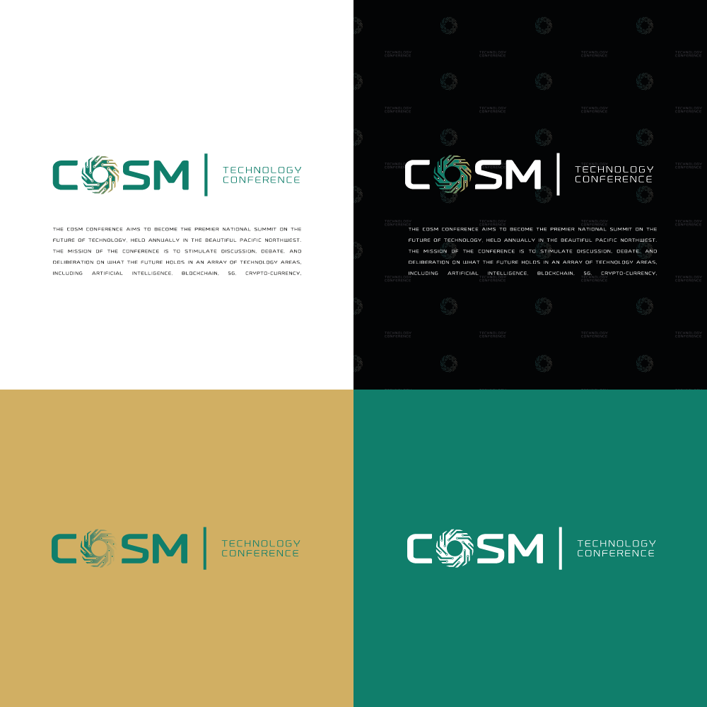 A High Concept Logo for COSM, a New Premier Technology Conference