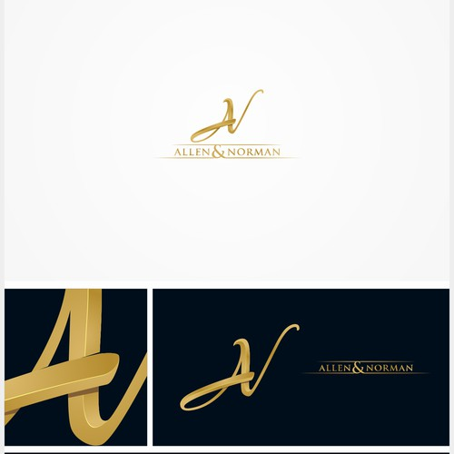 elegant logo for allen norman