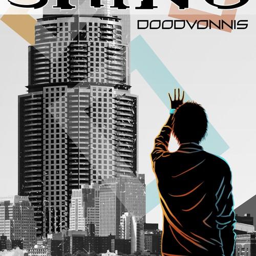 Mixed Media Book cover - new dystopian fiction saga
