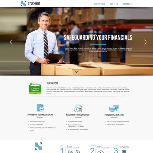 Winning design for Accounting company