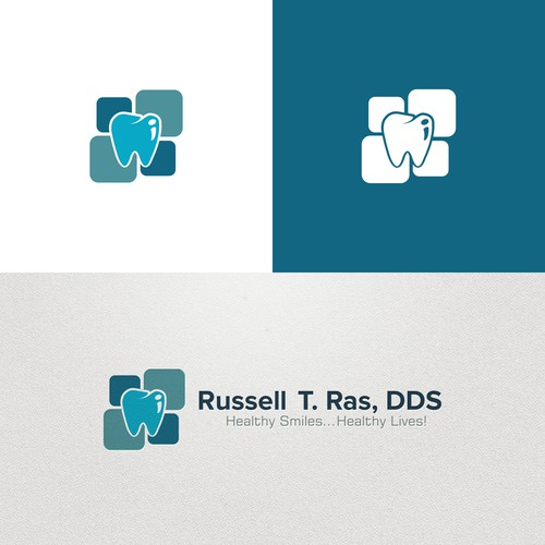 Logo concept for dental care.