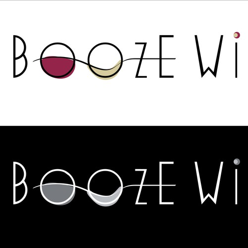 Logo/favicon for Boozewine.com, a wine website/blog.