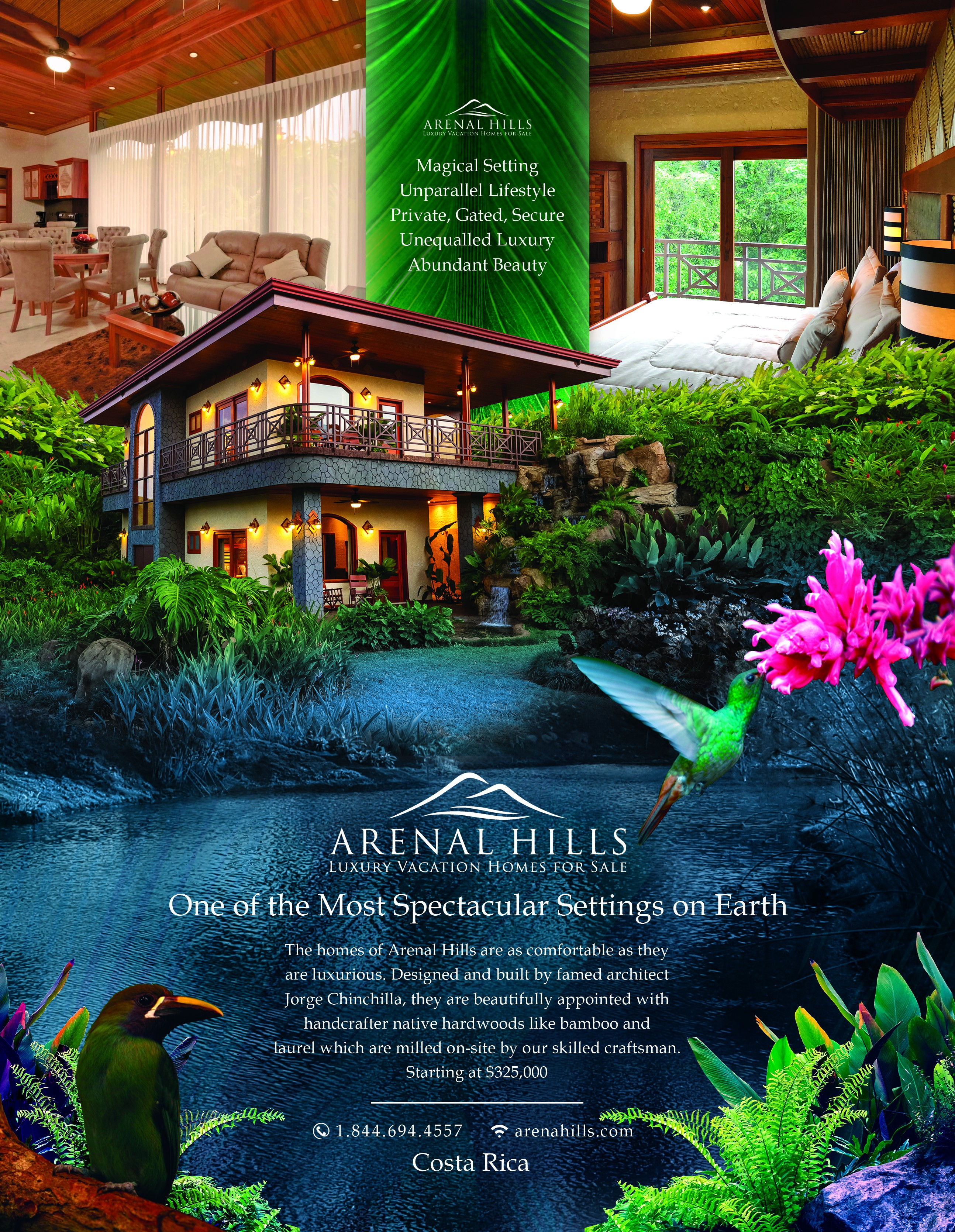 Magazine Ad, Full Page, For Luxury Home Community in Costa Rica