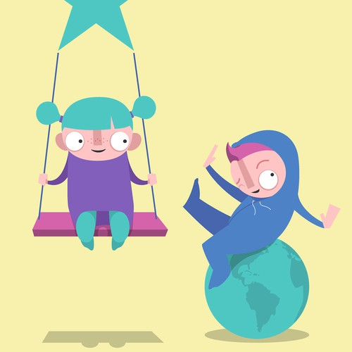 GIRL/BOY DUO FOR CHILDRENS BOOK APP