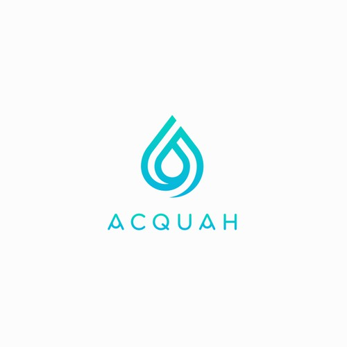 Creative water drop concept for ACQUAH Logo