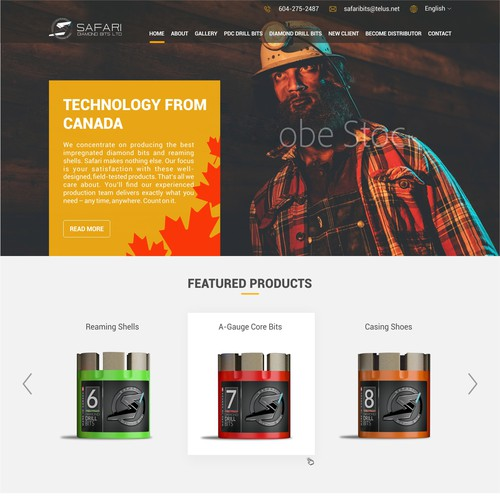 Industrial Website Design (Safari Diamond Drill Bits)