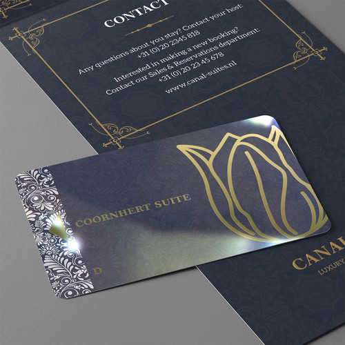 Business Card & Key Card Design for Canal Suites