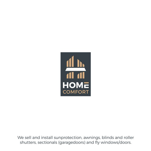 Logo and business card for Home Comfort