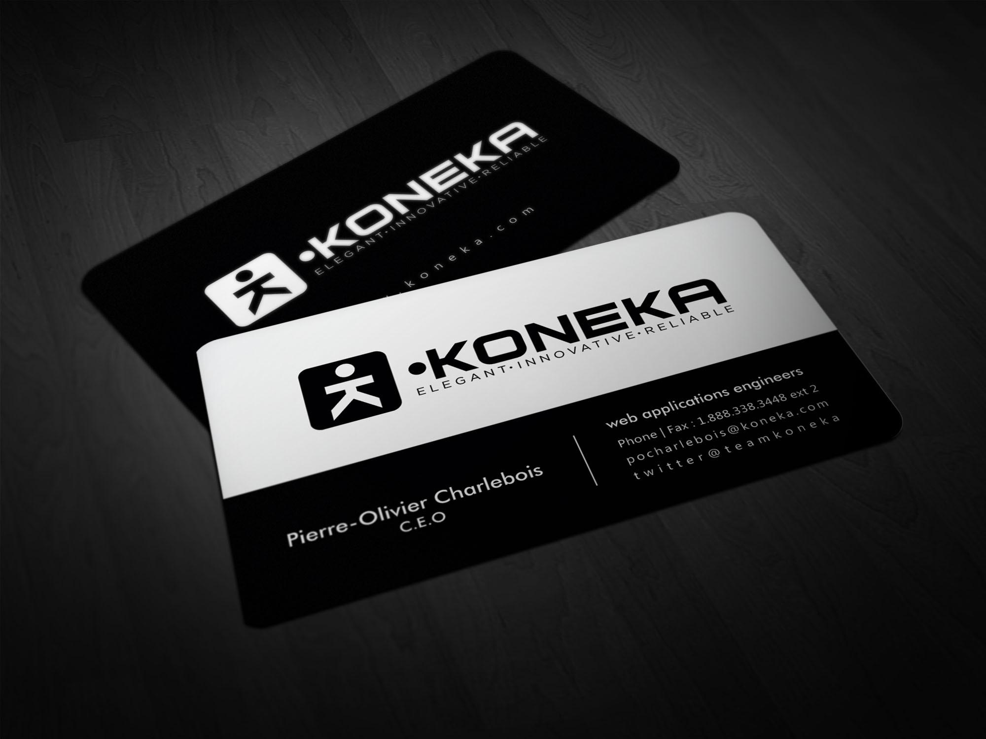 Koneka Black & White Business Card