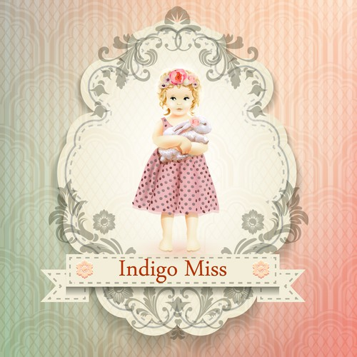 Create a Vintage / Retro Inspired Illustration/Logo for an upcoming little girls fashion store.