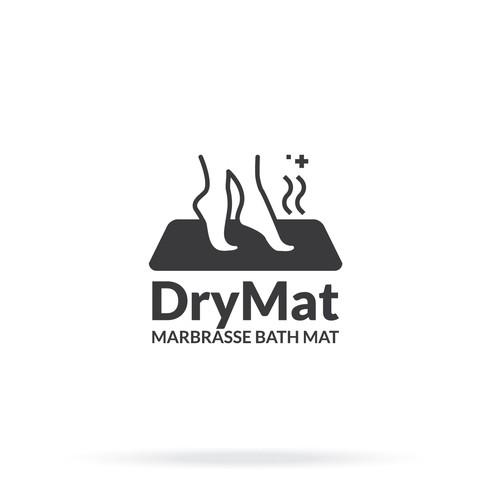 Logo concept for DryMat, Marbrasse Bath Mat