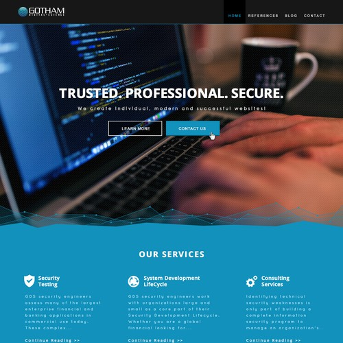 Landing Page Design for Gotham