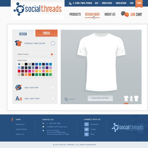 Webdesign for Social Threass