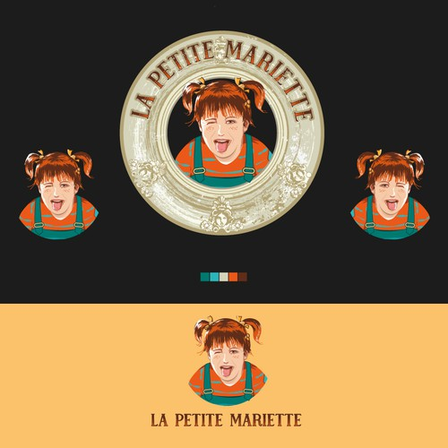 """logo for """"la Petite Mariette"""""""