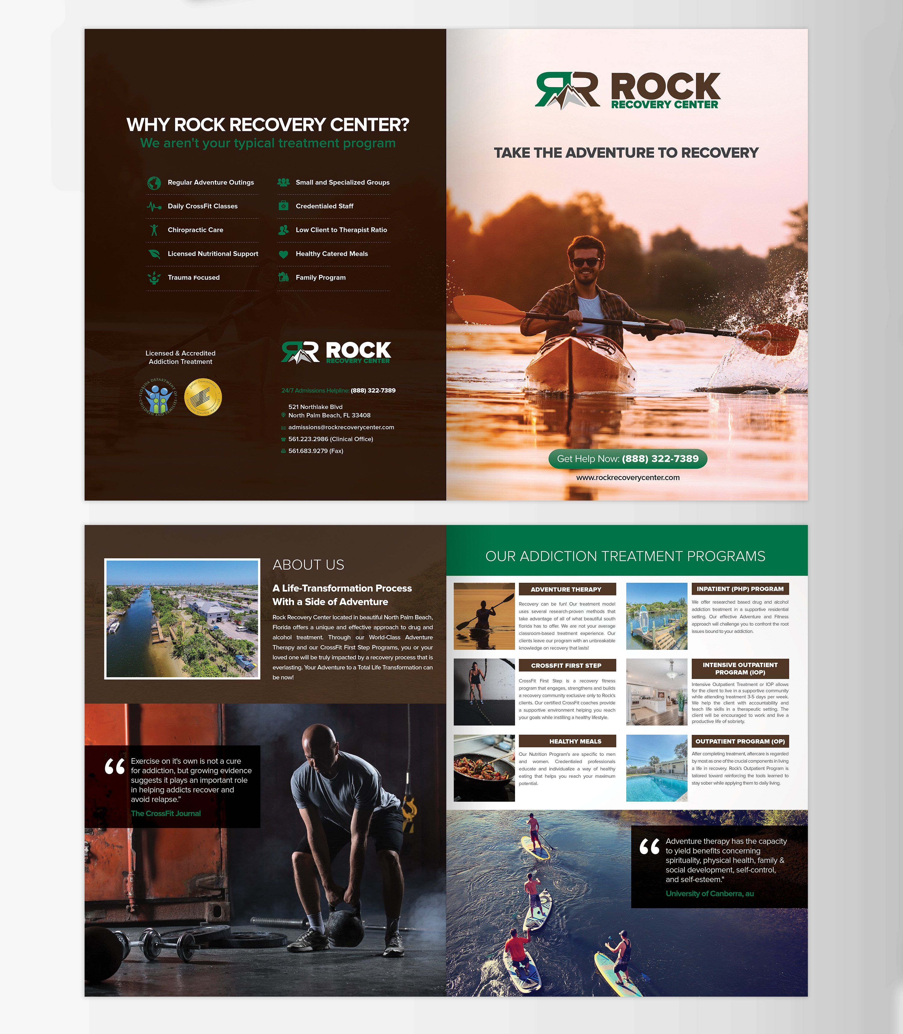 Addiction Treatment Brochure you designed 3 years ago needs revamp interested?