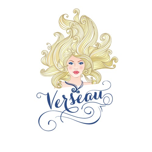 Beauty logo for Verseau skincare products