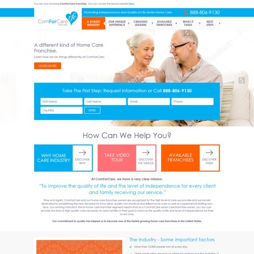 Bold website for ComForCare