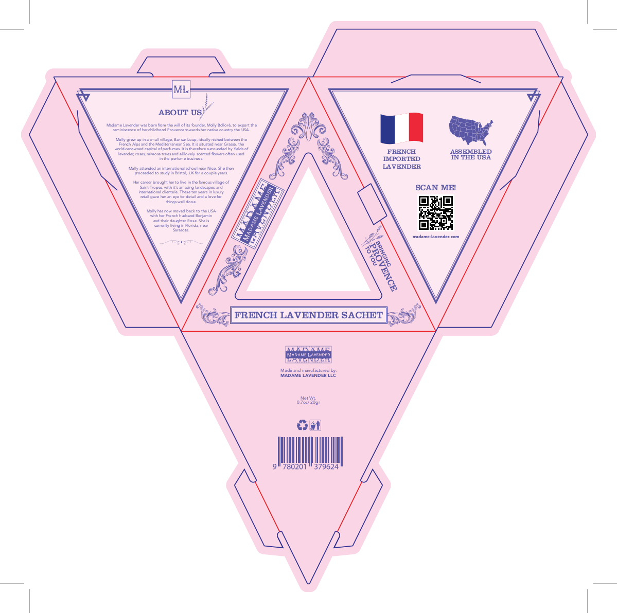 Packaging design for french lavender sachets & soaps