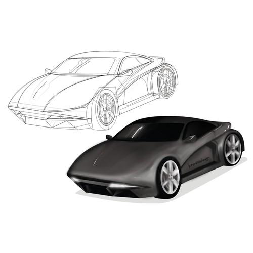 Overall car concept illustrates that marine predators sharks