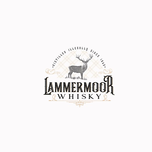 Vintage  style, hand drawn logo for small whisky company.