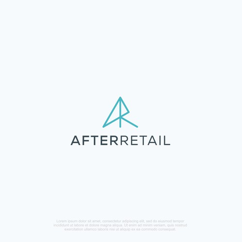 Letter A + R concept, simple and minimalist.