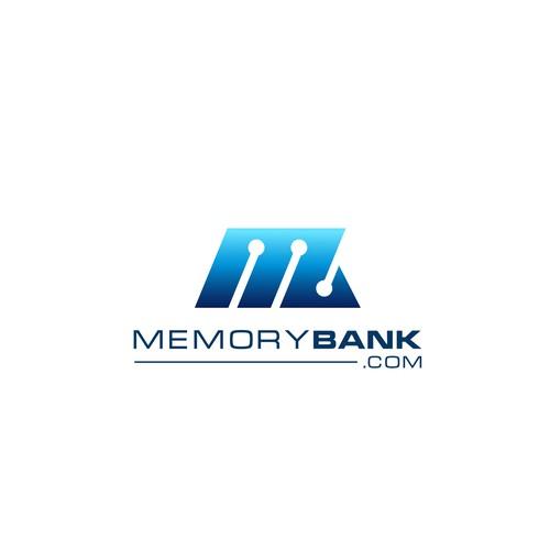 Memorybank.com logo design
