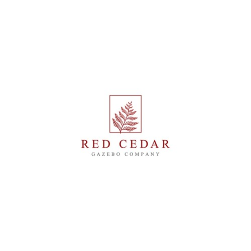Winning Logo concept for Red Cedar gazebo Company