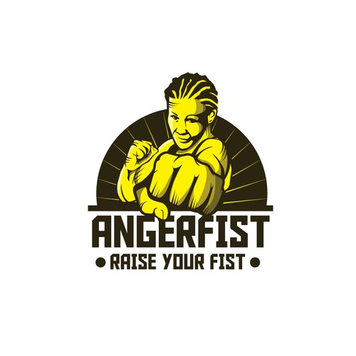 Bold Logo for a MMA Champion