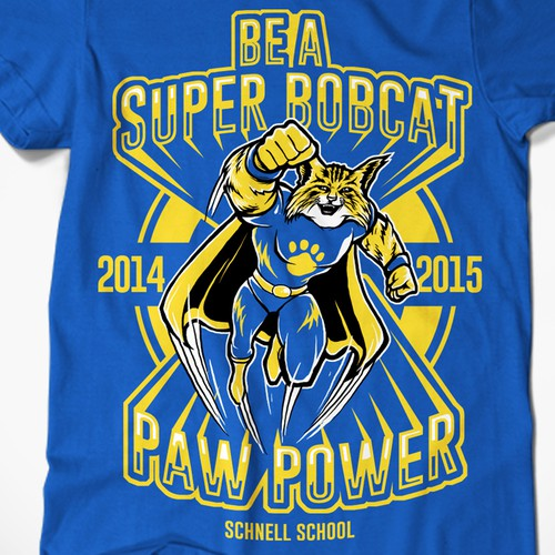 Schnell School Bobcats 2014/2015 T-Shirt Design