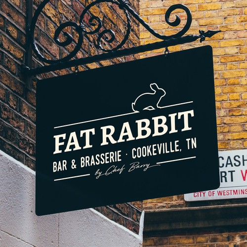 Logo concept for Fat Rabbit, Bar & Brasserie