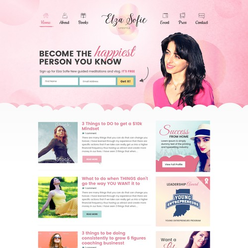 Life Coach Needs Beautiful Landing Page Design