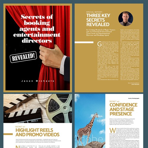 Design & Lay Out a Special Report for Magicians that Reveals the Secrets of Getting Booked