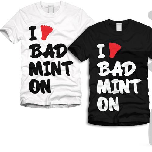 I Love Badminton needs a new t-shirt design
