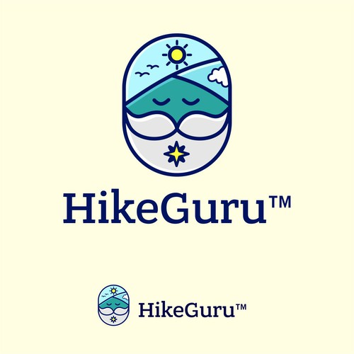 fun logo for hikeguru