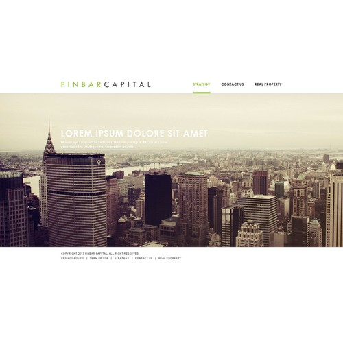 Create the next website design for www.finbarcapital.com